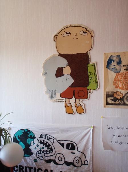 Alfons på väggen