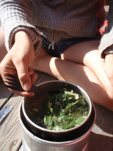 nässel och kirskåls-soppa