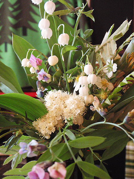 Vilda blommor från skogen