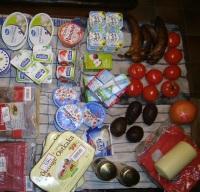 ostkaka & tomater